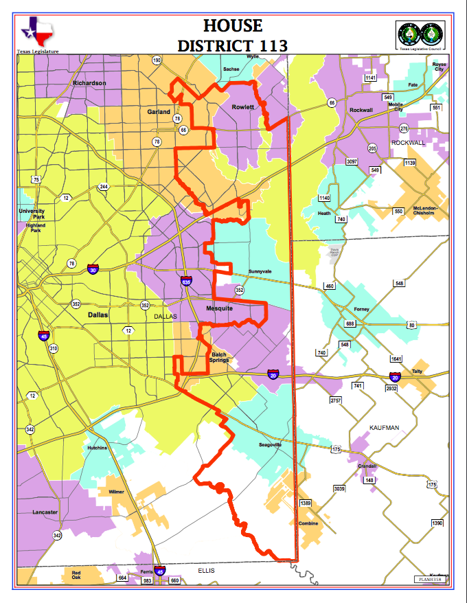 Map of House District 113